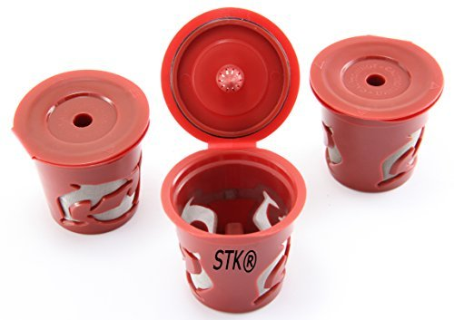 Brewing System Single (STK Reusable Filter Cups for Keurig K-Cup Elite and Single Cup Brewing Systems by STK)