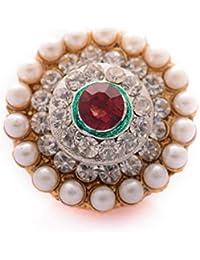 Saraa Rajasthani Multi-Color Pearl Stone Maang Teeka for Women