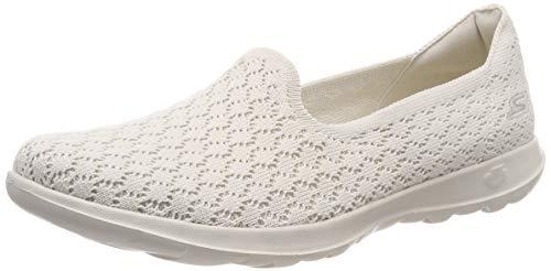 Skechers Damen Go Walk Lite - Daisy Slip On Sneaker, Beige (Natural Nat), 39 EU (Skechers Go Walk Schuhe Für Frauen)
