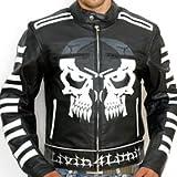 Biker Pirat Motorrad Jacke Motorradjacke Leder chopper