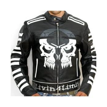 Motorrad Jacke Herren Motorrad Lederjacke Schwarz Leder M L XL XXL XXXL-5XL