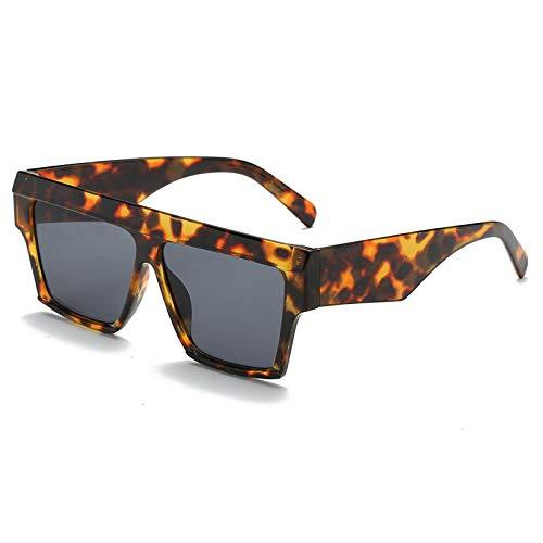 SNXIHES Sonnenbrillen New Vintage Square Oversize Sonnenbrille Damen Flat Top Retro Herren Sonnenbrille Classic Winter Style Eyewear 05