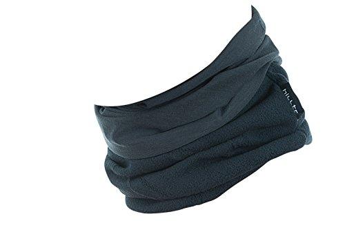 Hilltop Polar Multifunktionstuch mit Fleece, Motorrad Halstuch/Schlauchschal/Ski Gesichtsmaske/TOP Farben, Farbe Polar Tuch:Grau uni