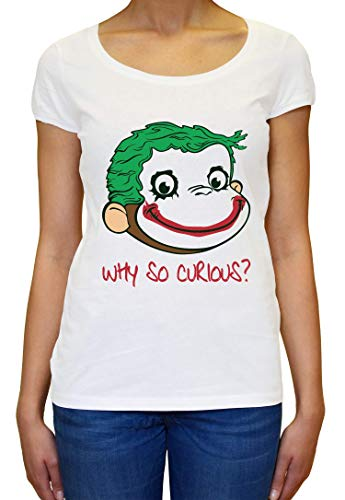 Why So Curious? Funny Monkey Damen T-Shirt ()