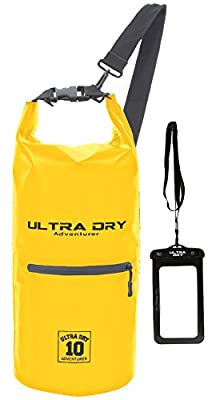 Ultra Dry Premium Waterproof Bag, Sack with phone dry bag, Front Zip Pocket & long adjustable Shoulder Strap Included, Perfect for Kayaking/Boating/Canoeing/Camping/Rafting/Swimming/Fishing from Ultra Dry Adventurer
