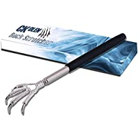 Ultimate portable Aigle griffe inoxydable télescopique extensible Gratte-dos avec grip en caoutchouc doux Massage