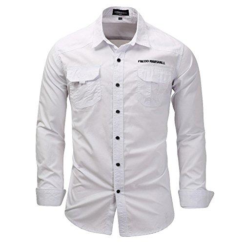 Tops Herren,TWBB Freizeit Männer Oberteile Einfarbig V-Ausschnitt Shirt Lange Ärmel Hemd Bluse Schlank Persönlichkeit Sweatshirts