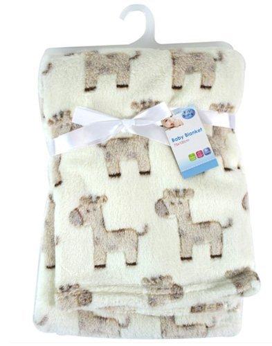 """Preisvergleich Produktbild Newborn """"First Steps"""" Baby Fleece-Decken, Design mit Elefanten, 75x100cm"""