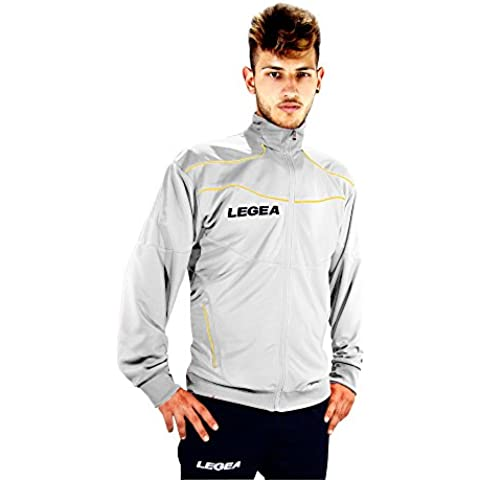 Legea  - Chaqueta de fitness para hombre, color blanco, talla M