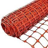 SORARA Kunststoffnetz/Zaun/Barriere Orange | 30 M / 3000 cm lang | 1,2 M / 120 cm hoch/langlebig/Maschen/Rolle/Rasen/Garten/Landwirtschaft/Außenbereich/BAU/Warnungen