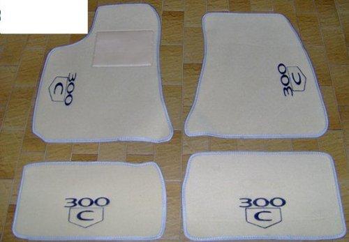 chrysler-300-c-tapis-de-voiture-beige-avec-bordure-gris-perle-set-complet-de-tapis-en-moquette-sur-m