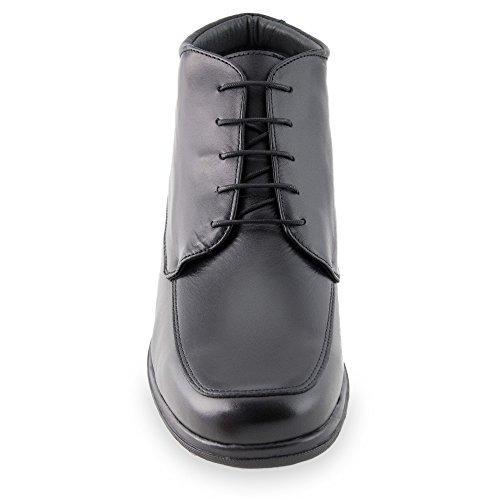 Scarpe da uomo che permettono di aumentare la statura fino a 7 cm. Modello Flex Nature B nero taglia 44