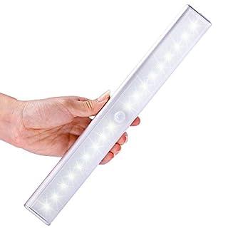 18LED – Lichtleiste, LOFTer 3 Licht Modus, mittels USB Kabel geladen werden, mit einem Magnetstreifen installieren, Nachtlichter mit Bewegungsmelder, automatischer Schranklicht(Weiß)