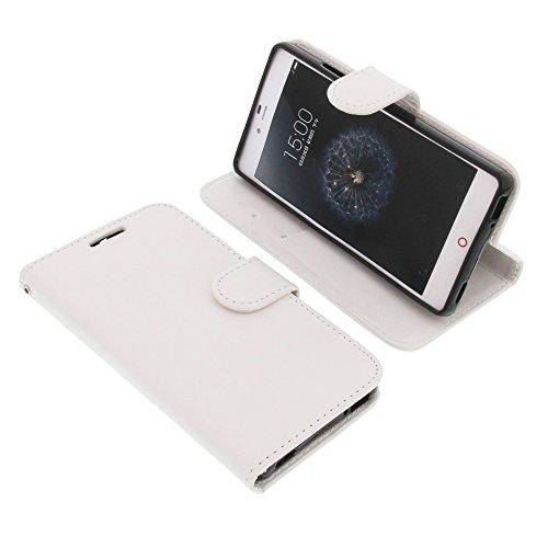 foto-kontor Tasche für ZTE Nubia Z9 Mini Book Style weiß Schutz Hülle Buch