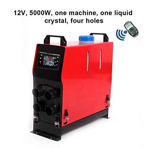 Eruditter Aerotermo per Auto 5000W12 / 24V One Hole/Quattro Fori Fan Liquid Crystal unità di parcheggio Fuel Air Heater Fuel Fan Car Heater Elettrico