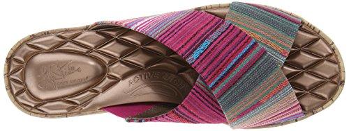 Life Stride Positive Large Toile Sandales Compensés Pink Multi