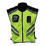 Festnight Veste de Moto réfléchissante de Sport Haute visibilité Gilet de sécurité pour équitation Fluorescent Racing Veste sans Manches Moto Gear (XXL)