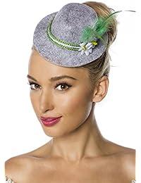 Grey Fascinator Mini Hat Trilby Fancy Dress Hat With Cord Flower Feather Oktoberfest Fancy Dress Ladies