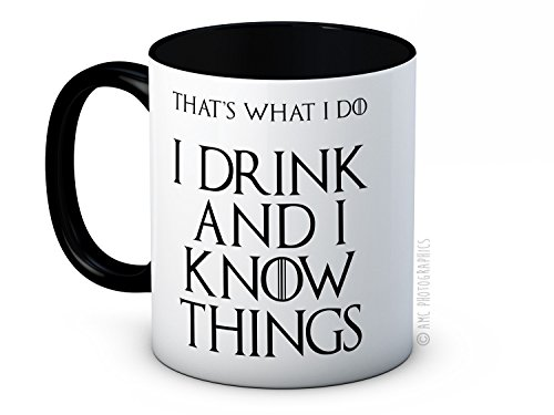 I Drink and I Know Things (That's What I Do) – Tyrion Lannister – Game of Thrones – Hochwertige Kaffeetasse