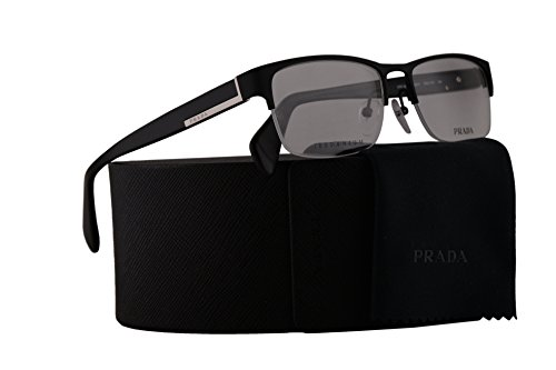 Prada PR52RV Brillen 55-17-145 Matt Schwarz Mit Demonstrationsgläsern FAD1O1 VPR52R VPR 52R PR 52RV