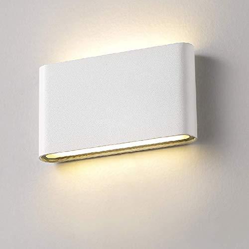 Xiajia-12w lampada da parete a led per interni/esterni muro in alluminio applique da parete esterna impermeabile ip65(bianco/bianco caldo)