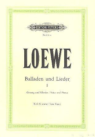 Balladen und Lieder, Band 1. Gesang und Klavier, Tiefe Stimme. (Ballade De Männer)