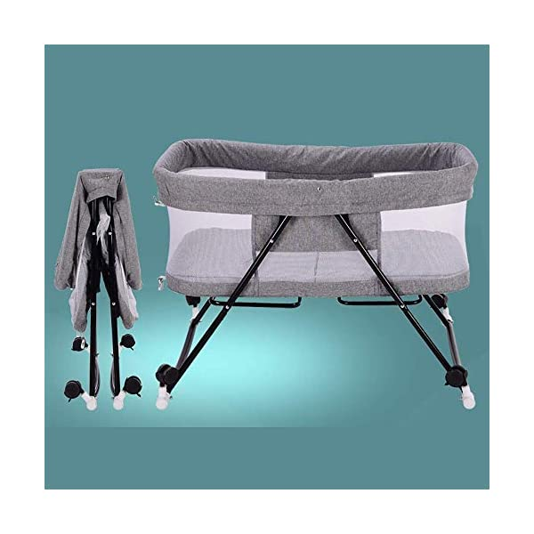 BHDYHM Bed Side Crib for Baby - Sleeper Includes Travel Case, Mattress, Sheet, and Urine Pad Foldable crib BHDYHM *The toddler bed is safe, cozy and easy to access, reinforcing your child's new-found independence. *360° breathable mesh to prevent mosquito bites, easy to observe baby moves *Mattress included with this cradle and gently rock them off to sleep each night. 5