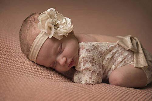 iSpchen Neugeborenes Baby Kinder Fotografie Requisiten Spitze Backless Baby Mädchen Jungen Strampler Outfit Kleidung Geschenk Weiß