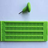 Inicio Braille Slate 4 Lines 28 Cells Braille Writing Slate with Stylus Green Plastic