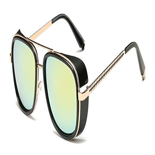 Nan Yin Sonnenbrille Samjune Iron Man 3 Matsuda Tony Bright Sonnenbrille Herren Rossi Coated Retro Vintage Designer Sonnenbrille Oculos Masculino Gafas De (Lenses Color : C7)
