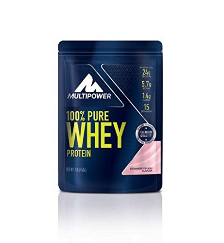Multipower - 100 % Pure Whey 450 g Strawberry Splash 2er Pack...