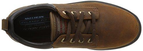 Skechers Segment Bertan, Chaussures basses homme Marron (Chocolat)