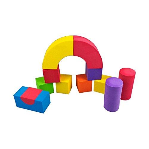 Bauklötze Schaumstoff Bausteine - Soft Schaum Spielzeug - 52 Stück bunt in verschiedenen Farben und Formen Kinder Spielzeug zum kreativen Lernen