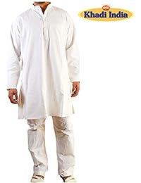 Khadi White Kurta Pyjama for Men
