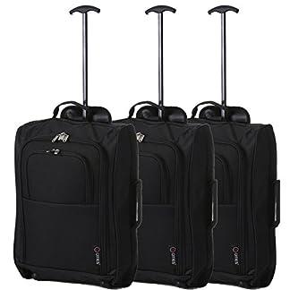 Conjunto de 3 maletas pequeñas para equipaje de mano, tamaño aprobado para Ryanair/Eeasyjet