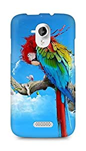 Amez designer printed 3d premium high quality back case cover for Micromax Canvas HD A116 (Parrot Painting)