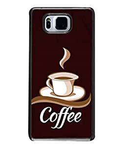 PRIMESHOPPY Designer Back Case Cover for Samsung Galaxy Alpha :: Samsung Galaxy Alpha S801 :: Samsung Galaxy Alpha G850F G850T G850M G850Fq G850Y G850A G850W G8508S :: Samsung Galaxy Alfa (Tasty Hot Drink Chocolate Hot Morning Coffeecup Aroma)