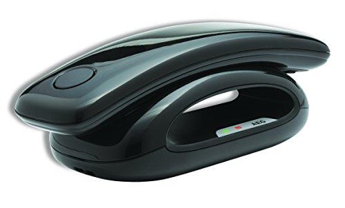 AEG Solo 15 - Teléfono fijo digital (contestador, inalámbrico, pantalla LCD), negro