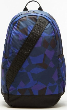 Zaino Uomo Donna Bikkembergs Backpack Men Woman Db 365 Geometric D4201-Blu