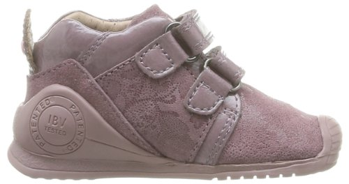 Biomecanics Girl, Chaussures premiers pas bébé fille Rose (6B Malva Serraje Y Charol)