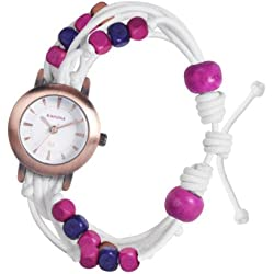 Kahuna Women's Quartz Watch with White Dial Analogue Display and White Plastic or PU Strap KLF-0016L