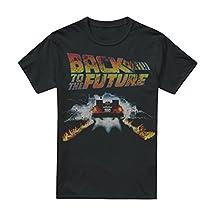 Back to The Future Delorean T-Shirt pour Homme - Noir - Medium