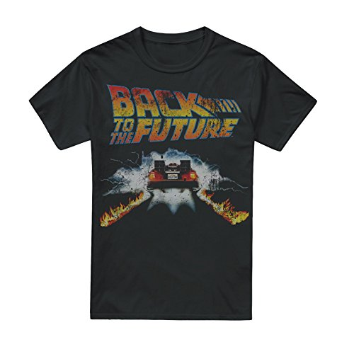 Back to the Future Men's DeLorean Fire Trails T-shirt - S to XXL