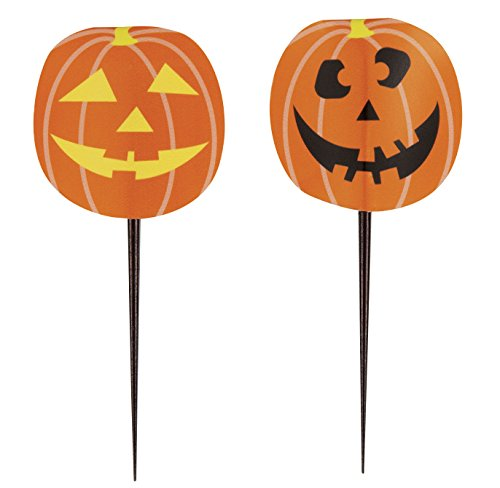 Unique Party Supplies Kürbis Halloween Cupcake Picks, 8 Stück (Halloween Cupcakes Jack)