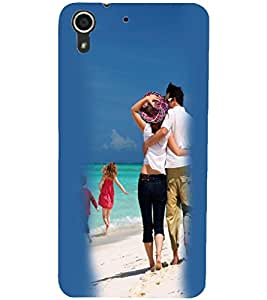 PrintDhaba Couple D-2452 Back Case Cover for HTC DESIRE 728 (Multi-Coloured)