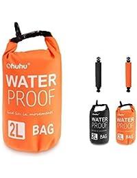 [Sac Etanche] Ohuhu® 2L Sac Etanche Extérieur/Dry Bag pour Nautique, Kayak, Pêche, Rafting, Natation, orange