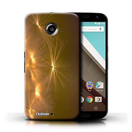 Kobalt® Imprimé Etui / Coque pour Motorola Nexus 6 / Pourpre conception / Série Allumez la vie Orange