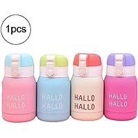 Ouken Mini Botella de Agua para los niños y Adultos de vacío Botella con Material Aislante de café del Viaje del Acero Inoxidable de la Copa Thumbler - 200ml (Color al Azar)