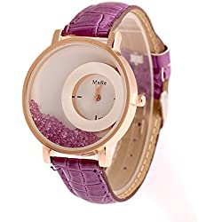 Swadesi Stuff Analogue Purple Dial Women's & Girl's Watch -Maxrepurple1