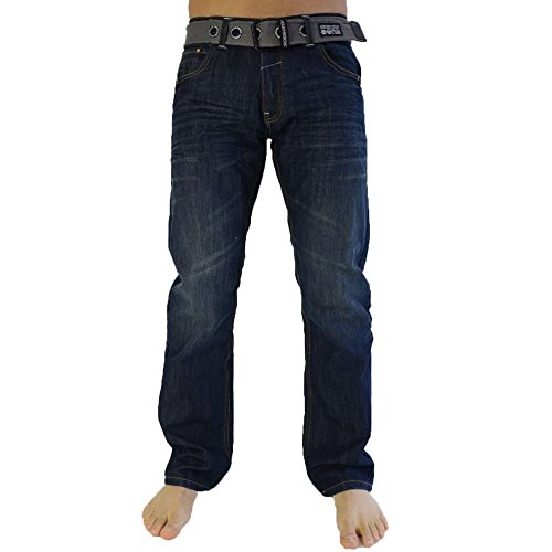 Jeans Crosshatch New Embossed Techno SW Dunkle Waschung New Wak